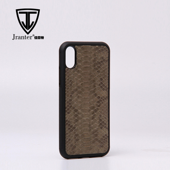Jranter Real Python Phone 6/7/8 /X Cover TPU Luxury Case