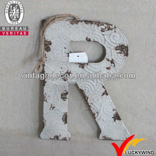 Vintage Letters Wall Decor : Vintage rustic wall decor metal alphabet letters buy