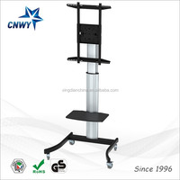 Hot selling led lcd tv floor stand model with portrait and landscape veiwing
