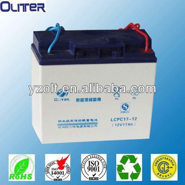12 volt deep cycle life solar gel battery with 3 years warranty