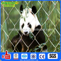 Large panda cages chain link netting