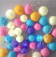 ce rohs approved 3m 20 leds 4.5m 35 leds 12v cotton light ball garden led decorative ball string light