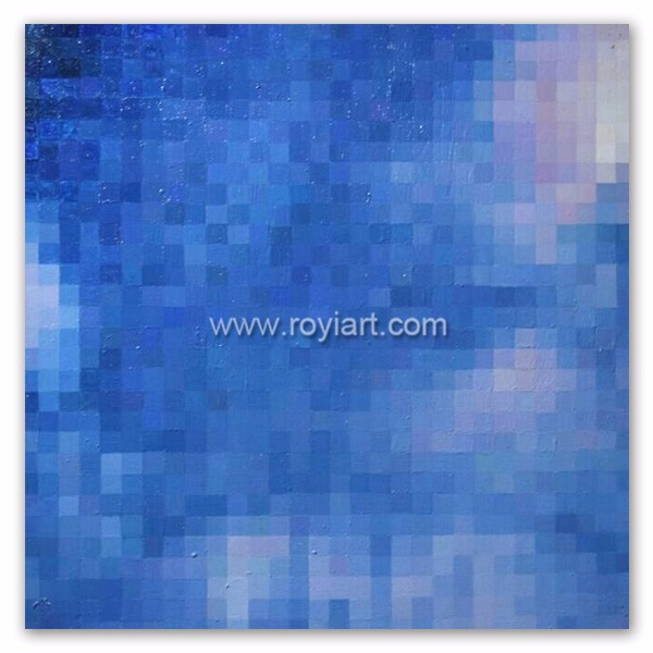 ROYIART Blue Abstract Painting on linen canvas for wall decoration