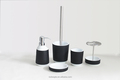 Black Scandinavia Style Nordic Resin Bathroom Accessories Sets