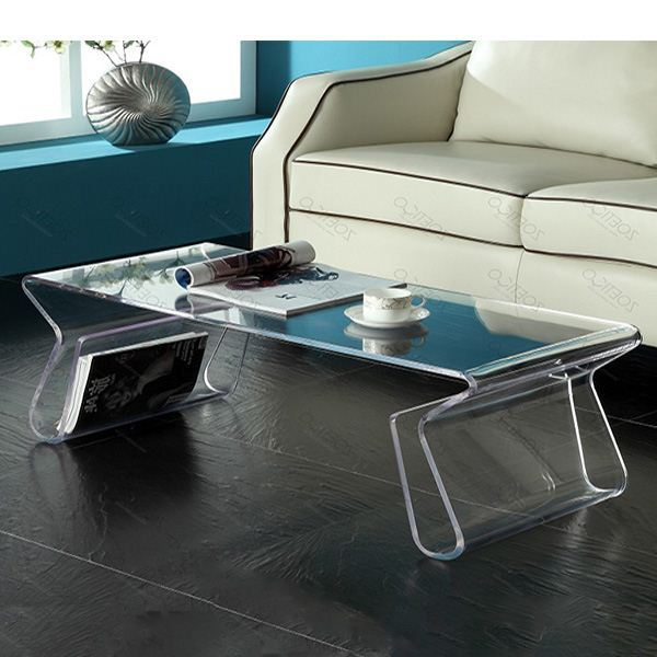 fashion custom transparent plastic acrylic folding table for display decorations