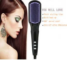 Guangdong factory induction steam hair straightener comb