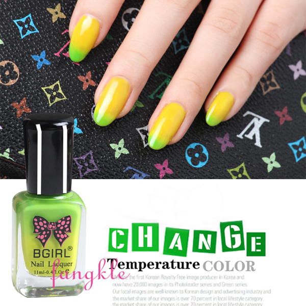 nail art polish supplier 11ml nail polish color temperature changing
