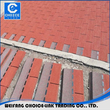 Chinese Red Color Fiberglass Roofing 3 tab asphalt shingles/tile