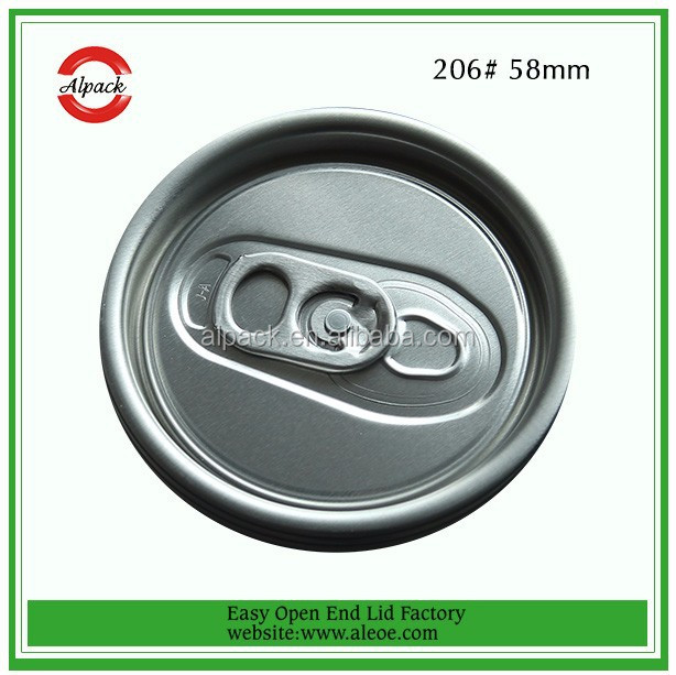 Easy Open End Beverage Aluminum Can Lid 206# SOT