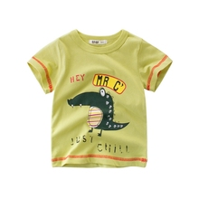 KT-9098 High quality soft child printing clothing for kid wear <strong>boy</strong> t shirt in stock /OEM Custom Design
