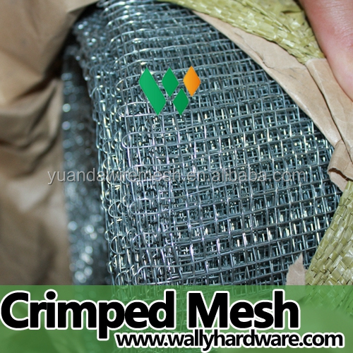 2016 Manufacturers selling stock firm double weave closed crimp mesh