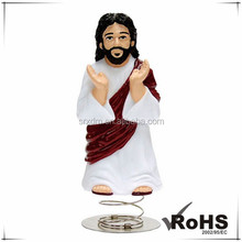 Custom christian religious toys of dashboard JESUS, OEM JESUS figure China factory