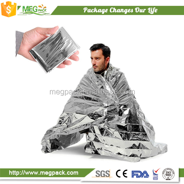 first aid aluminum foil blanket disaster use heat reflective blanket