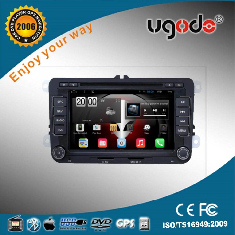 ugode Hot Sale android 7'' in-dash 2 din Car DVD Player for VW universal Built in GPS, radio, Bluetooth,