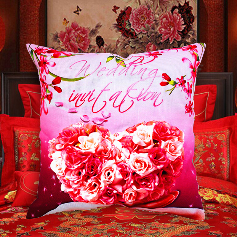 Wedding invation DIY Pillow Chinese 3d dmc counted cross-stitch kit embroidery wholesale Needlework set fabric machine thread