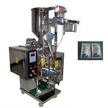 Sachet shampoo / bath gel packaging machine with 4 sides sealing