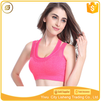 Athletic apparel manufacturers wholesale quick dry shockproof non-wired womens sports bra