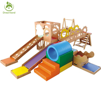 Toddler Soft Furniture Educational Wooden kids small Chilrens Play Slide