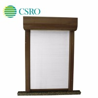 Vertical aluminum latest high-end customized shutter window designs