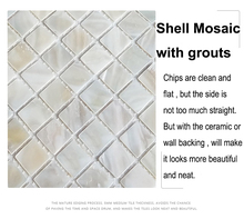 MOP-G24 White Mother of Pearl Shell Mirror Frame Mosaic