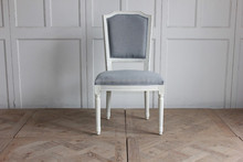 antique french style white painted wood wedding chair