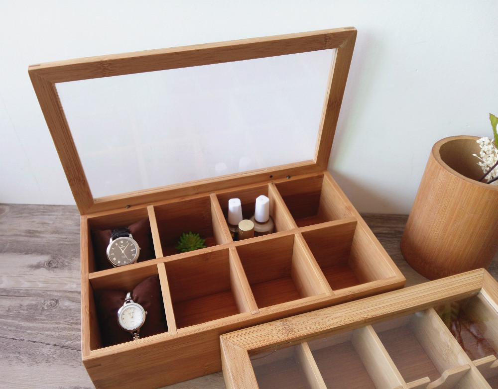 Fashion bamboo watch box bamboowoden box