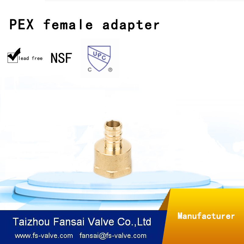 "Chinese manufacturer lead free copper nut cUPC forged 1""PEX* female threaded brass coupling union adapter fitting"