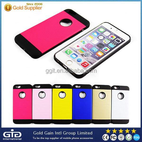 [GGIT] Dual Colors TPU+PC Cover for iPhone 6, for iPhone 6 Mobile Phone Case