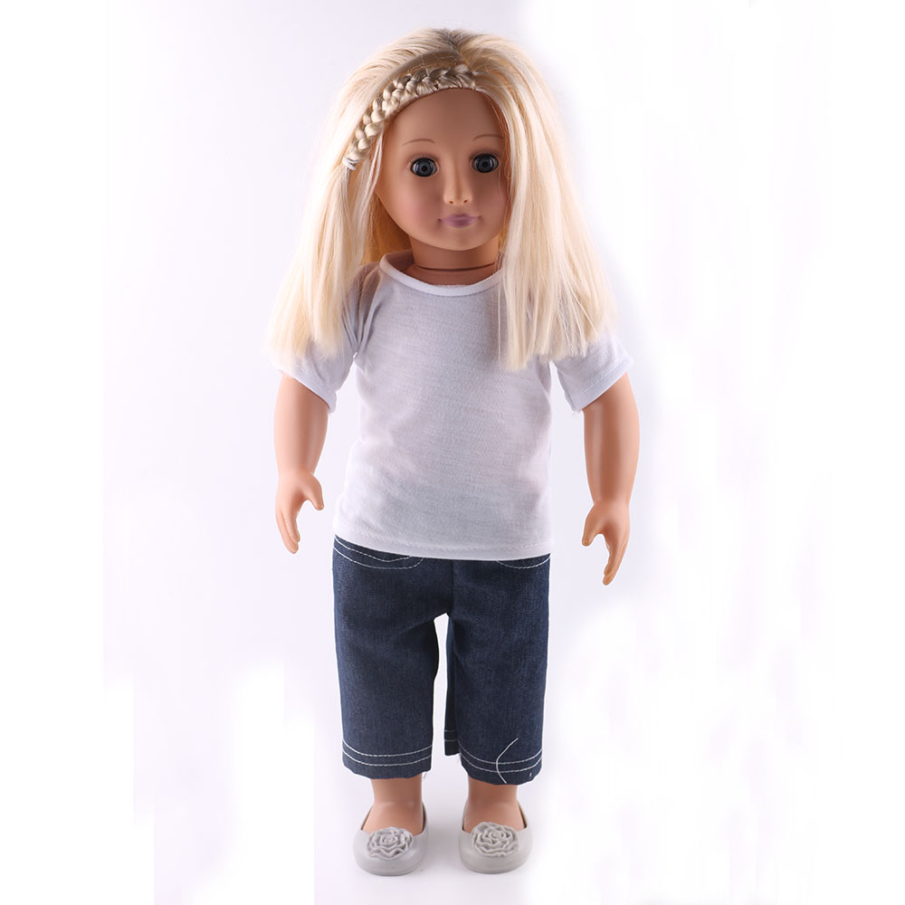 Couple Costume white doll clothes doll jeans for doll girl boy