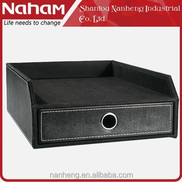 NAHAM cardboard stacking documents file tray drawer