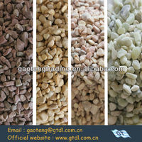 European style garden landscaping color granite chips