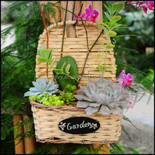 wall hanging plant wicker basket 150073