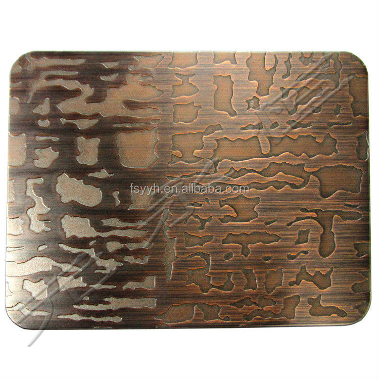 mirror and part sand blast stainless steel sheet