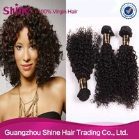 Fashional style brazilian kinky curly remy hair weave