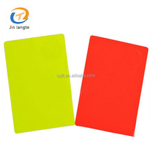 Soccer football accessories leather cover referee wallet red yellow warning cards