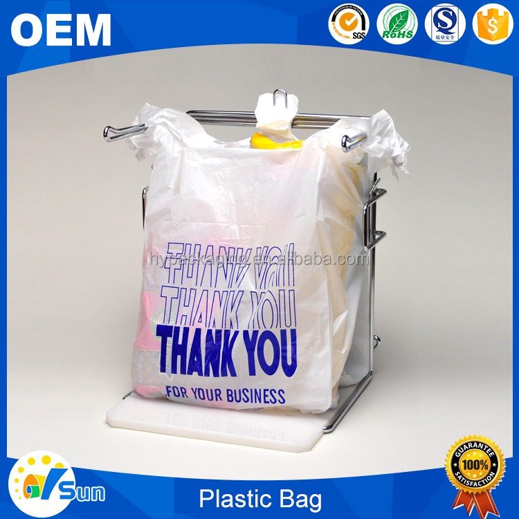 Alibaba Top Ranking PE Materials Packaging Use Custom Printed T Shirt Vest Carrier Bags