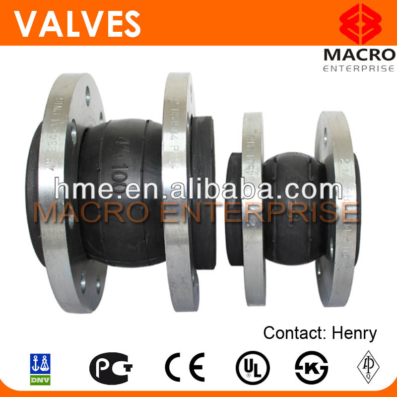 stainless steel flange rubber joint