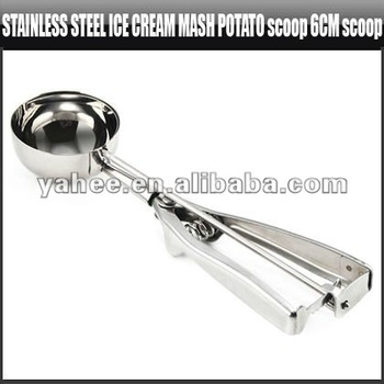 Stainless Steel Ice Cream Scoop Mash Potato Scoop Ice Cream Tool, YFK226A