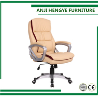 High Quality Popular Black Leather painted Base Swivel Office Chair