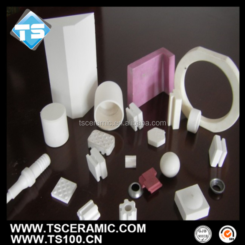 high purity integral forming process alumina ceramic parts/sleeves/rings/rod/tubes/bends
