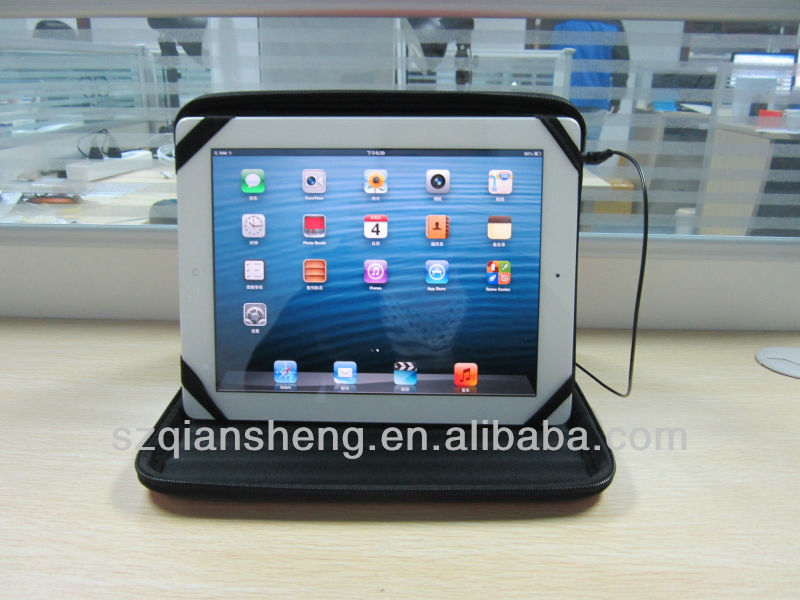 "9.7""Built-in Speaker Case Cover for tablet PC iPad mini"