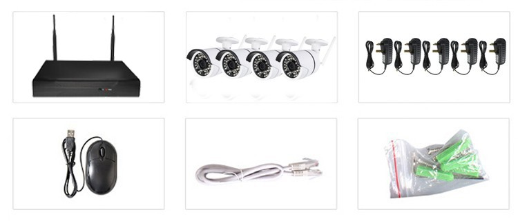 4ch wireless nvr kit outdoor wifi camera cctv security wireless system promoted in November
