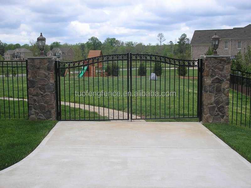 Walk gates arched metal gate popular single wroguht