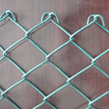 High tensile movable chain link fence for baseball fields