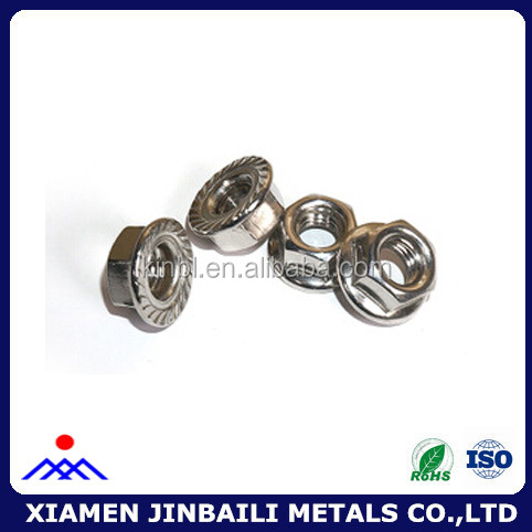 china custom stainless steel flange nut