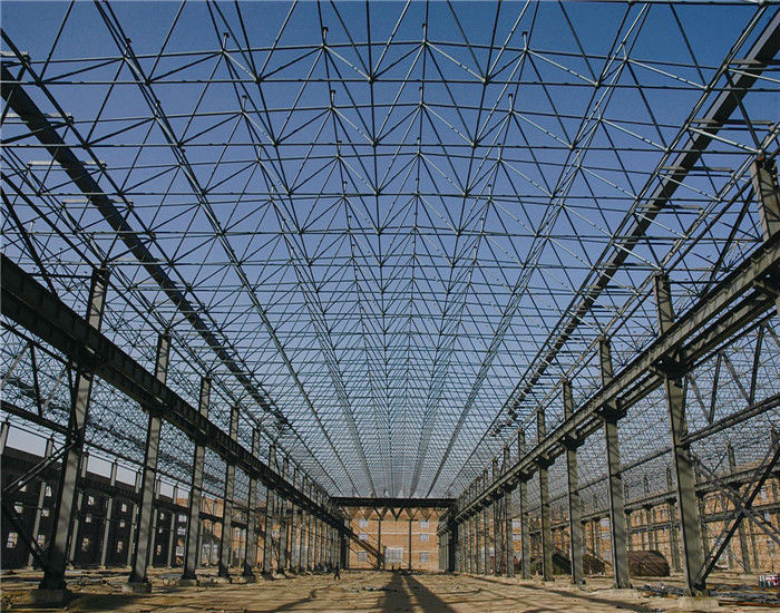 Light Weight Long Span Steel Hall For Factory