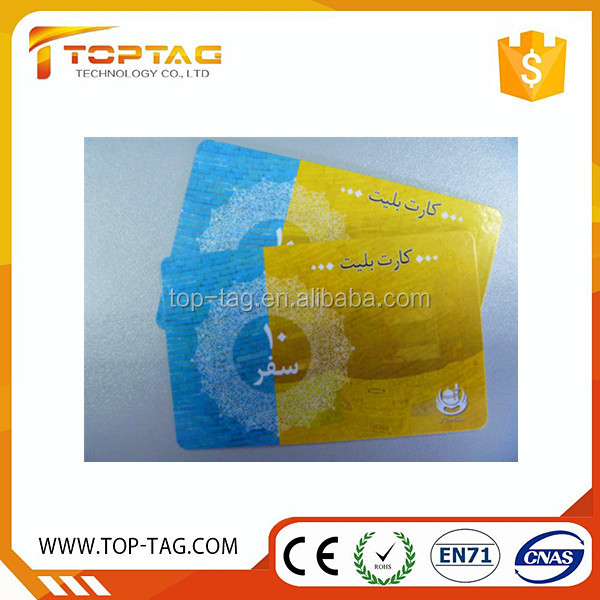 Ultralight Thermal Printing Boarding Pass Rfid Paper Ticket Card
