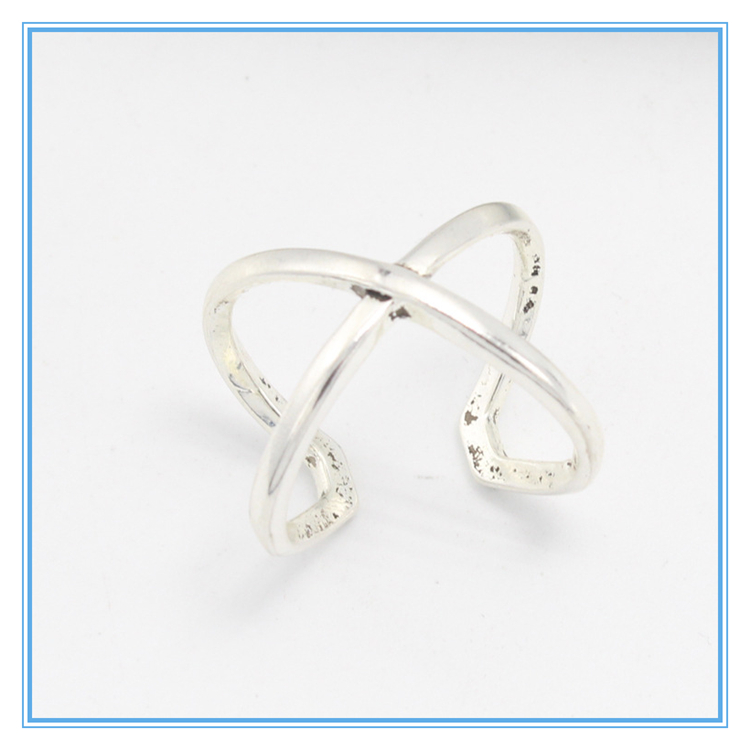 Wholesale Yiwu Exaggerated retro Bohemia wind ornaments cross opening alloy ring