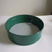Hot Sale !! 43CM METAL GARDEN RIDDLE SIEVE MESH HOLE SIZE COMPOST SOIL RIDDLE
