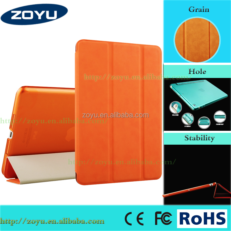 luxury leather smart cover stand with magnet flip case for ipad mini case shock proof